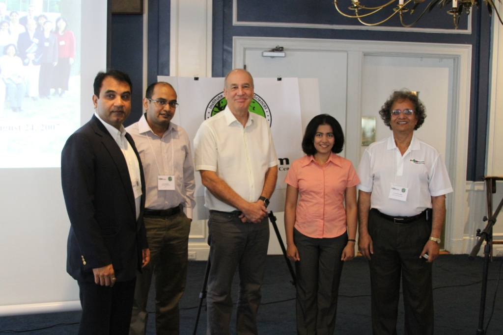 Dr. Singh with guests who attended all 10 years of symposium